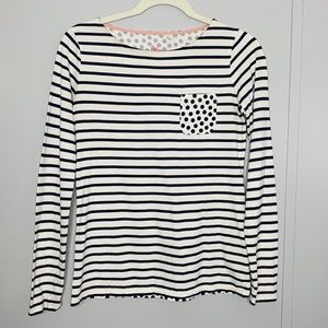 Boden Striped with Polka Dots Top 4